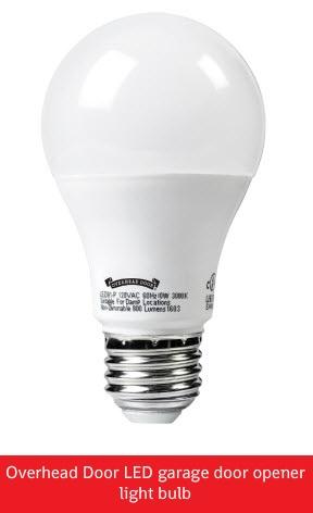 LED Light Bulbs for Garage Door Openers; Overhead Door LED garage door opener light bulb