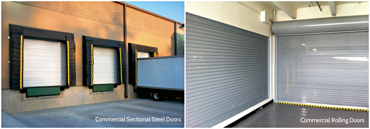 Accessories for Commercial Garage Door Operators; commercial sectional steel doors; commercial rolling doors