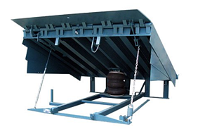 Air Powered Dock Leveler by McGuire