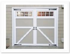 Carriage House Garage Door, Barn Door with Window and Decoration Hardware NJ