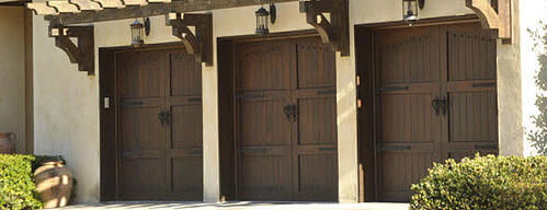Colonial Style Garage Doors - Carriage House Garage Doors Stain Grade