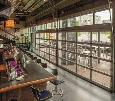 Commercial Aluminum Garage Door in Bar