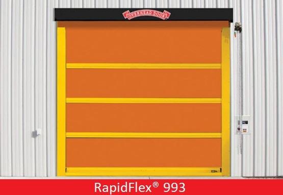 Commercial Doors for Hospitals and Medical Facilities; Overhead Door Company of Central Jersey Commercial Door; High Speed Exterior Fabric Door; RapidFlex® 993