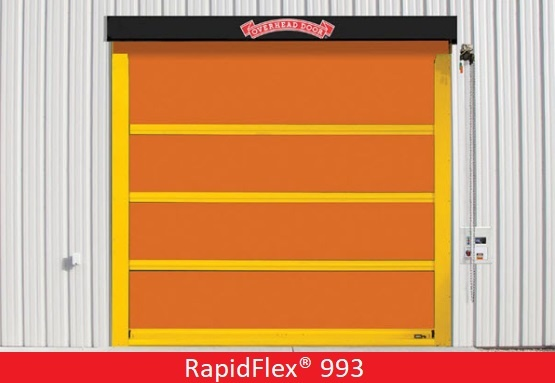 Commercial Doors for Hospitals and Medical Facilities; Overhead Door Company of Central Jersey Commercial Door; High Speed Exterior Fabric Door; RapidFlex® 993
