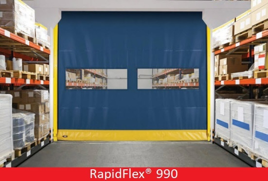 Commercial Doors for Hospitals and Medical Facilities; Overhead Door Company of Central Jersey Commercial Door; RapidFlex® 990; Flexible Bottom High Speed Door - 990, Flexible bottom interior high speed fabric door