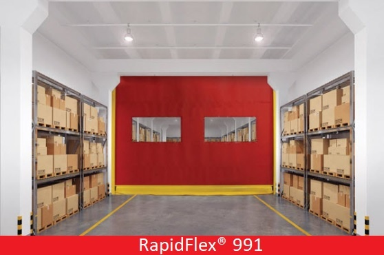 Commercial Doors for Hospitals and Medical Facilities; Overhead Door Company of Central Jersey; high speed interior fabric door, RapidFlex® Model 991