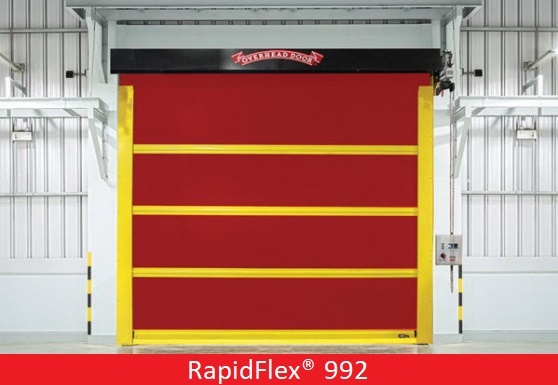 Commercial Doors for Hospitals and Medical Facilities; Overhead Door Company of Central Jersey; high speed interior fabric door, RapidFlex® Model 992