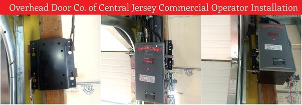Commercial Operators  Repair or Replace;  commercial garage door operator installation; RHX commercial operator installation by Overhead Door Co. of Central Jersey.