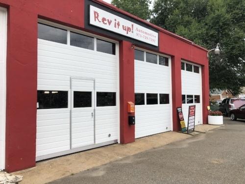 Commercial Sectional Overhead Garage Door with Man Door