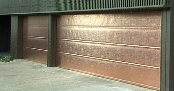 Copper Garage Door Photo Credit Madden Door and Sons Inc.