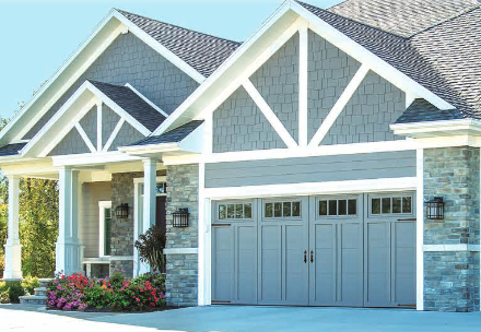Courtyard Collection® with double car wide garage door