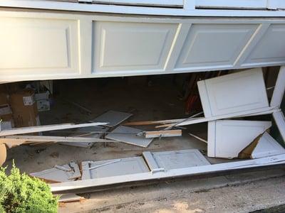 Damaged Garage Door, Broken Garage Door NJ