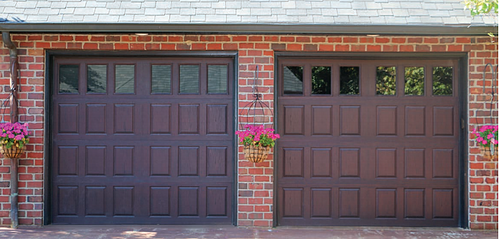 Fiberglass & Vinyl Garage Doors with Raised Panels in New Jersey