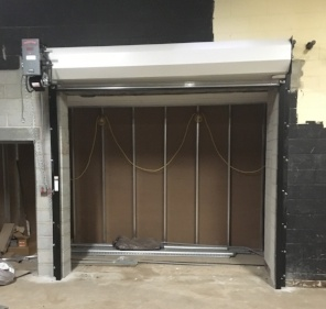 Commercial fire-rated door by the Overhead Door Co. of Central Jersey