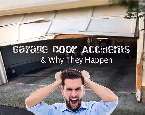 Garage Door Accidents & Why They Happen; Annoyed Man and broken garage door.jpg