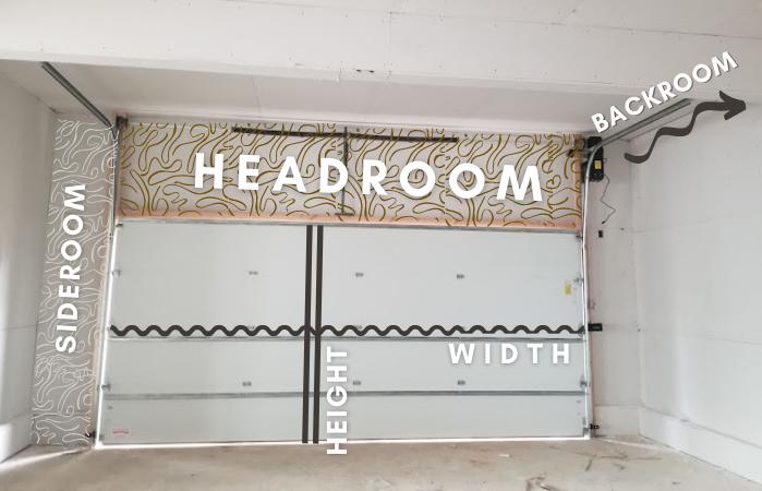 Garage Door Measures Headroom, Sideroom, Height and Width-1