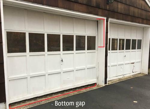 Garage Door Pulley Broke! What Happened; Door not close on affected side.jpg