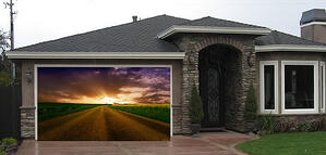 Garage Door Sunset
