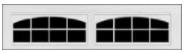 Garage Door Window Style - Stockton 2 (8 lite)Arch