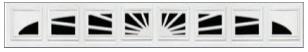 Garage Door Window Style - Williamsburg 1 8pc