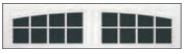 Garage Door Window Style for Carriage House Doors - 16 Window Arched