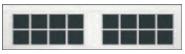 Garage Door Window Style for Carriage House Doors - 16 Window Square