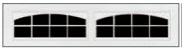 Garage Door Window Style for Courtyard Garage Doors - Stockton Arch
