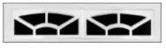 Garage Door Window Style for Traditional Garage Doors - Ashton 2