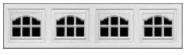 Garage Door Window Style for Traditional Garage Doors - Cascade 1