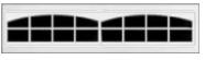Garage Door Window Style for Traditional Garage Doors - Stockton 2 (8 lite)