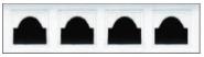 Garage Door Window Style for Vinyl Garage Doors - Cathedral 1