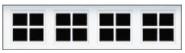 Garage Door Window Style for Vinyl Garage Doors - Stockton 1