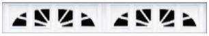 Garage Door Window Style for Vinyl Garage Doors - Williamsburg 1 (4pc)
