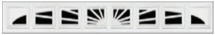 Garage Door Window Style for Vinyl Garage Doors - Williamsburg 1 (8pc)