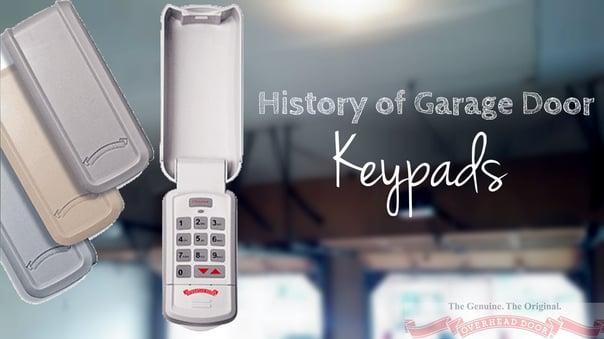 History of Garage Door Keypads; Overhead Door Company of Central Jersey Garage Door Controls; Keypads