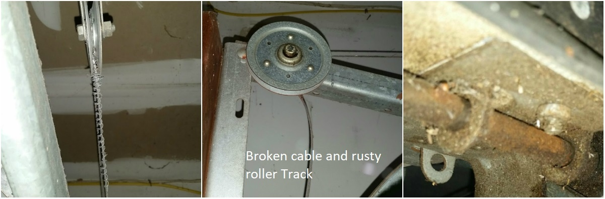 How to Prepare For Your Garage Door & Opener Service Call; Broken spring, cable, track, roller, hinge.