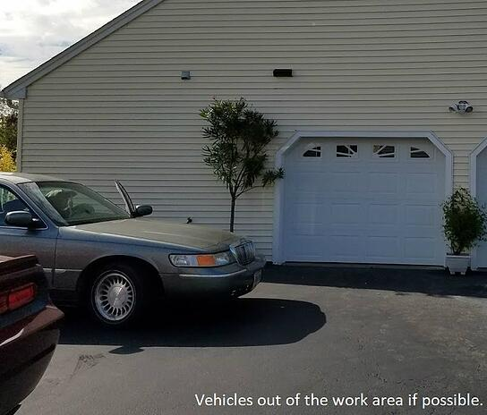 How to Prepare For Your Garage Door & Opener Service Call; Vehicles out of the work area.