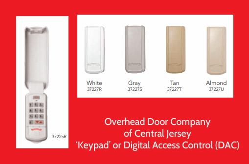 How to Program a Garage Door Keypad; Overhead Door Central Jersey Garage Door Keypads