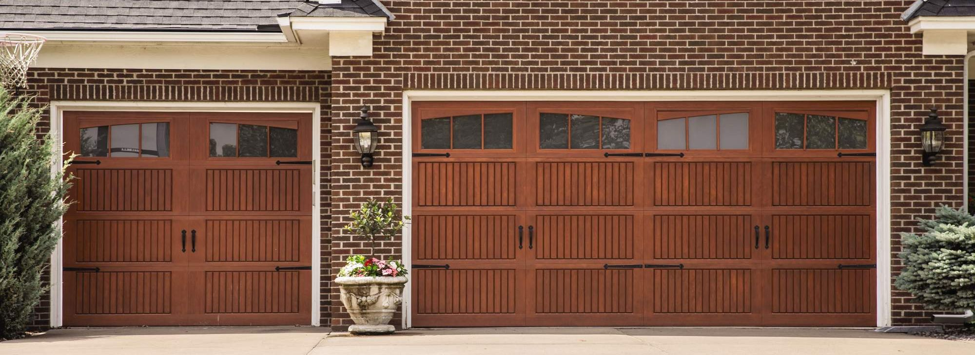 Impression Collection FIberglass Garage Door Cherry-Window Arch