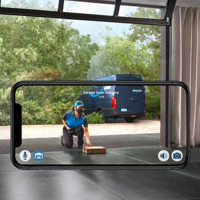LiftMaster Secure View Garage Door Opener - WiFi Garage Door Opener with Integrated Camera