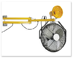Loading Dock Lights with Fans