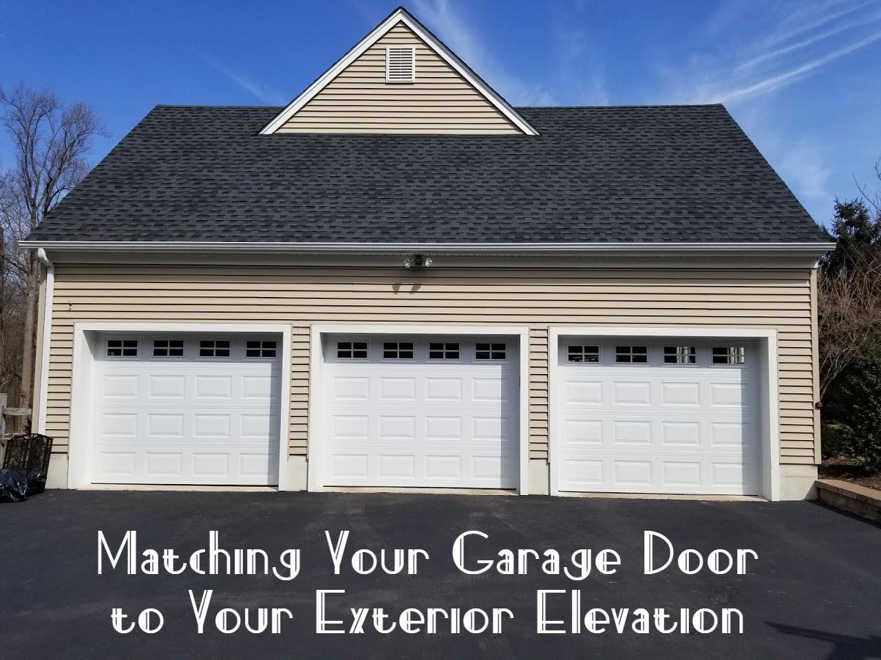 Matching Your Garage Door to Your Exterior Elevation; Garage Door Opener System; White Residential Garage Door.