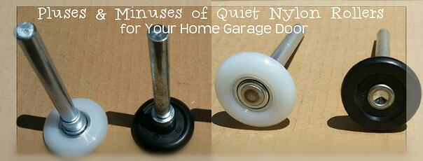 Pluses & Minuses of Quiet Nylon Rollers for Your Home Garage Door; Nylon garage door rollers by Overhead Door Company of Central Jersey.jpg