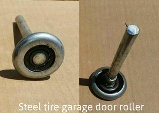 Pluses & Minuses of Quiet Nylon Rollers for Your Home Garage Door; steel tire garage door roller.jpg
