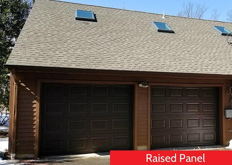 Raised Panel vs Recessed Panel Garage Doors; Brown Raised Panel;  Residential Garage Door