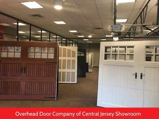 Raised Panel vs Recessed Panel Garage Doors; Overhead Door Company of Central Jersey Showroom