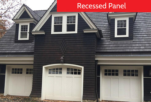 Raised Panel vs Recessed Panel Garage Doors; Recessed Panel Garage Door for Home