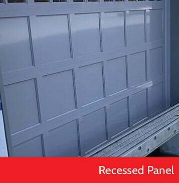 Raised Panel vs Recessed Panel Garage Doors; Recessed Panel