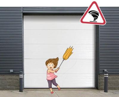 Sectional Overhead Door for Hurricanes, Wind Load Commercial or Industrial Door NJ