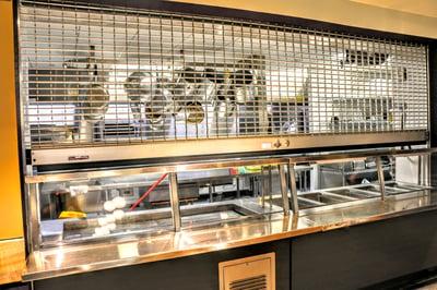 Counter Door Security Grille in Fast Food Court